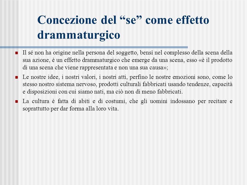 Concezione del se come effetto drammaturgico