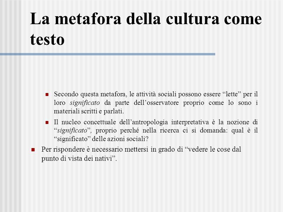 La metafora della cultura come testo