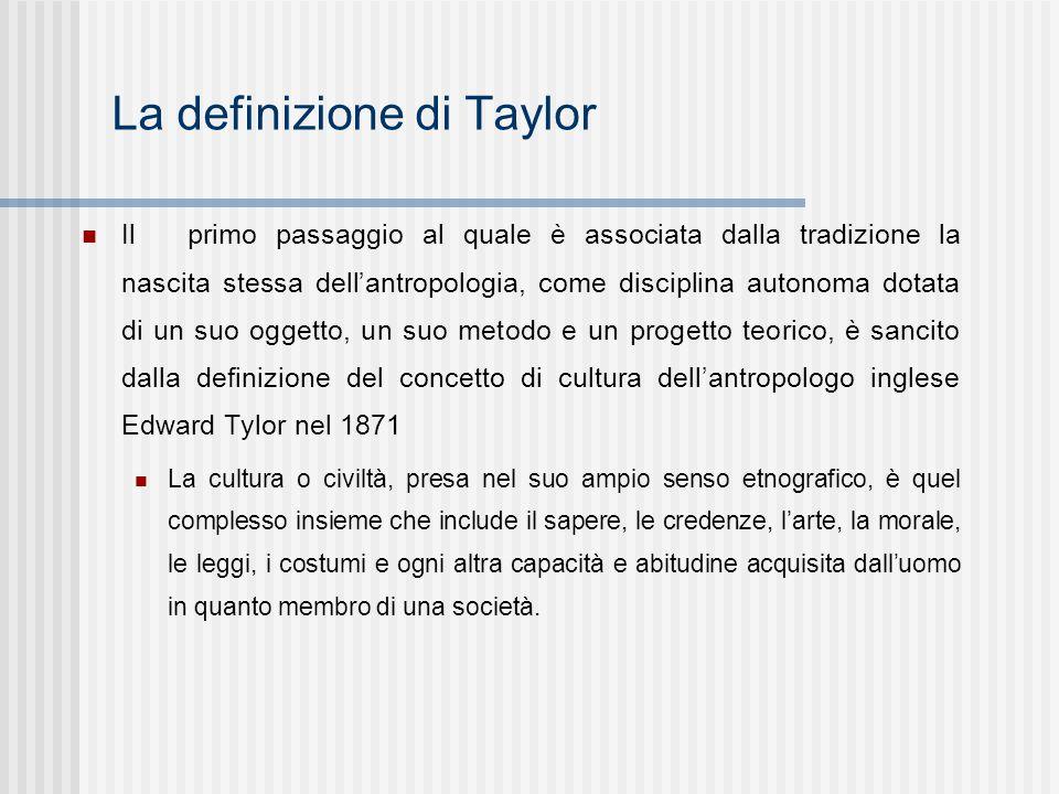 La definizione di Taylor