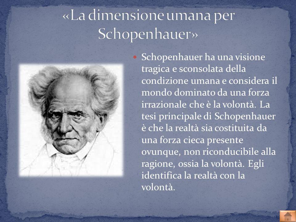 «La dimensione umana per Schopenhauer»