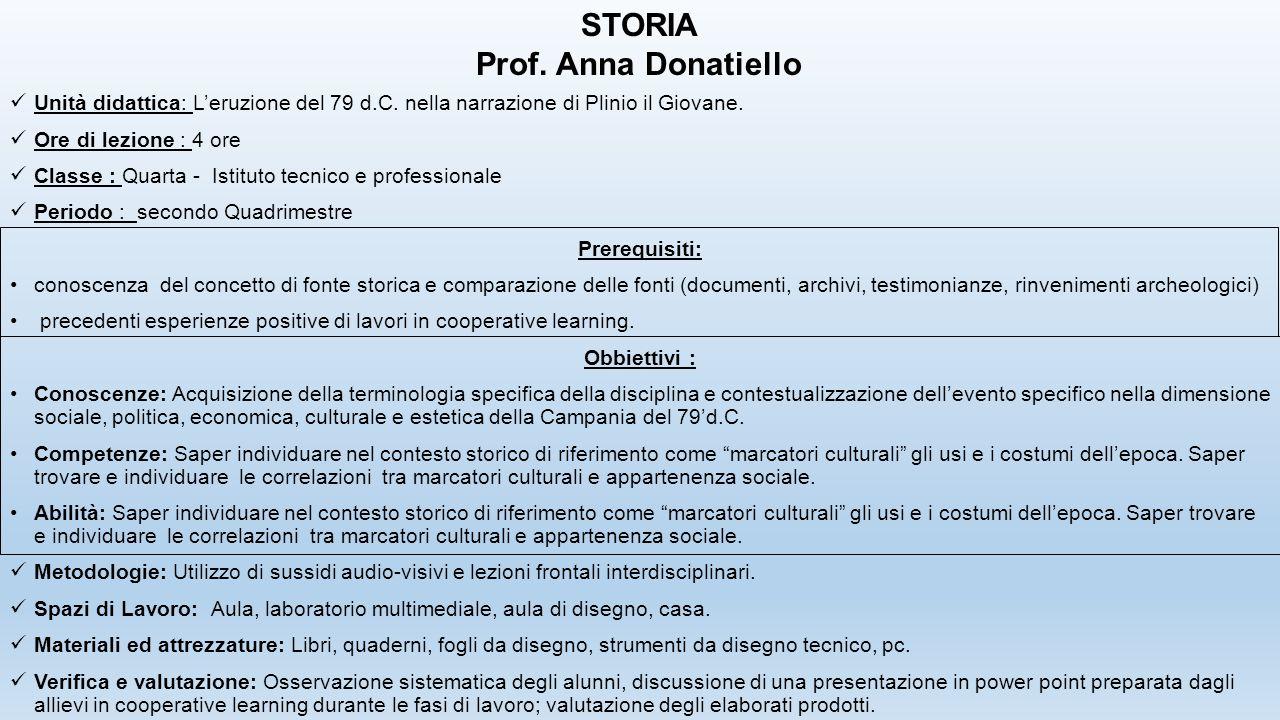STORIA Prof. Anna Donatiello