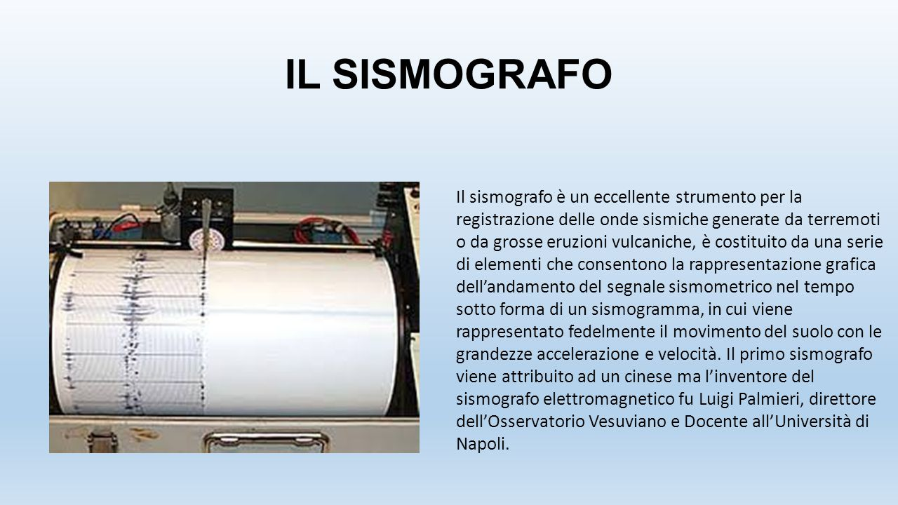 IL SISMOGRAFO