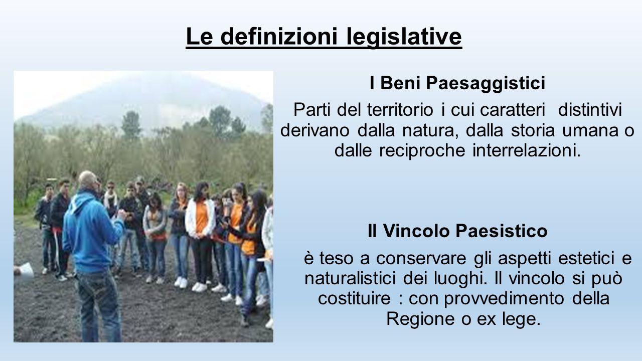 Le definizioni legislative