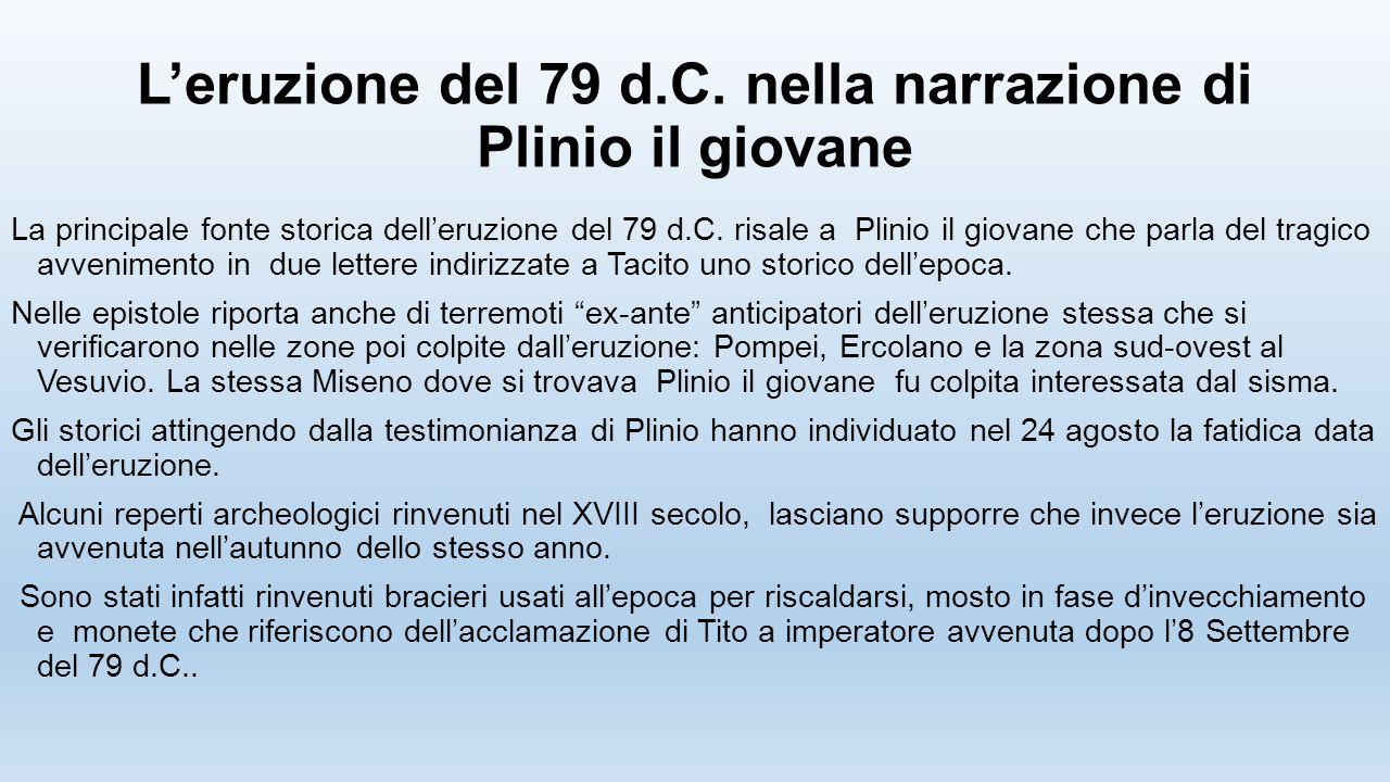 L'eruzione del 79 d.C. nella narrazione di Plinio il giovane
