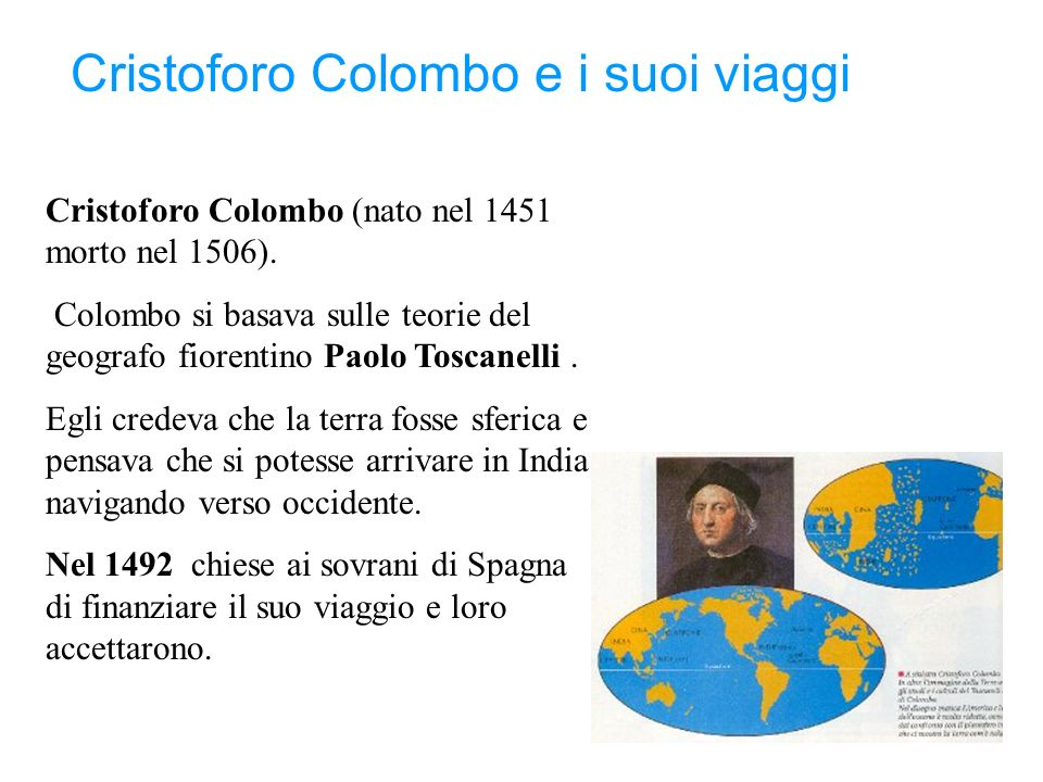 Cristoforo Colombo e i suoi viaggi