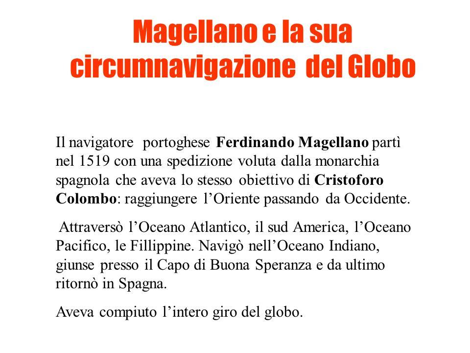 Magellano e la sua circumnavigazione del Globo