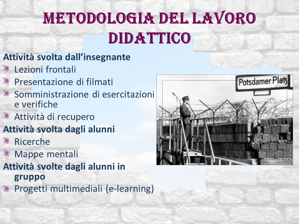 Metodologia del lavoro didattico