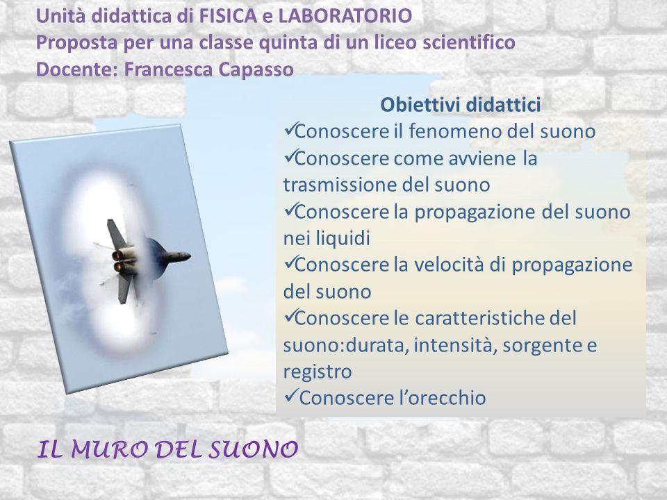 Unità didattica di FISICA e LABORATORIO Proposta per una classe quinta di un liceo scientifico Docente: Francesca Capasso