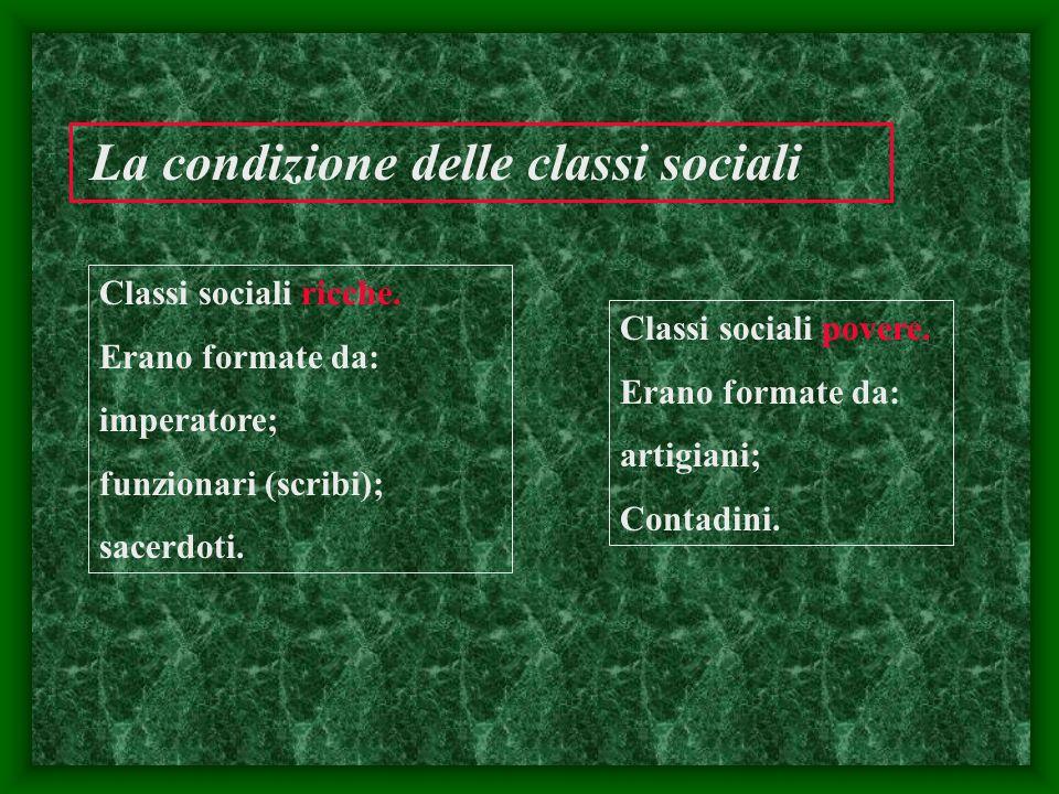 La condizione delle classi sociali