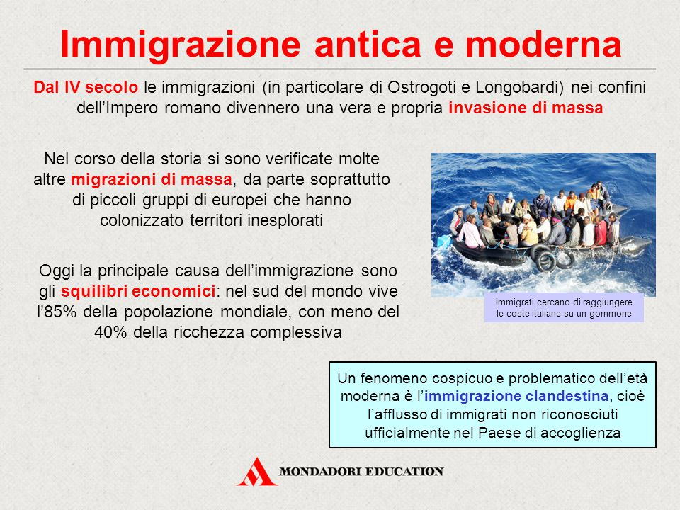 Immigrazione antica e moderna
