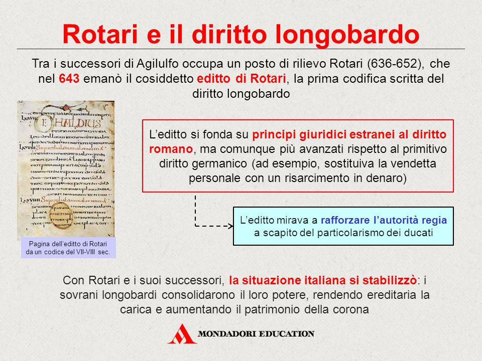 Rotari e il diritto longobardo