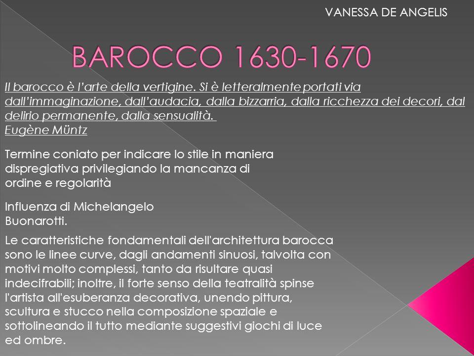 BAROCCO 1630-1670 VANESSA DE ANGELIS