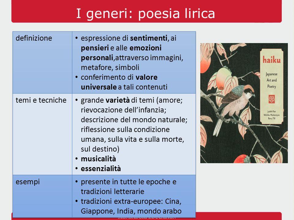 I generi: poesia lirica
