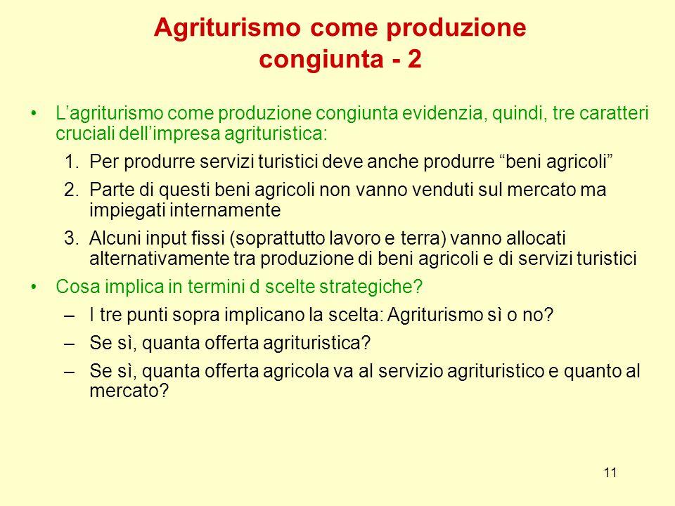 Agriturismo come produzione congiunta - 2