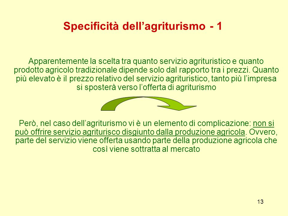Specificità dell'agriturismo - 1