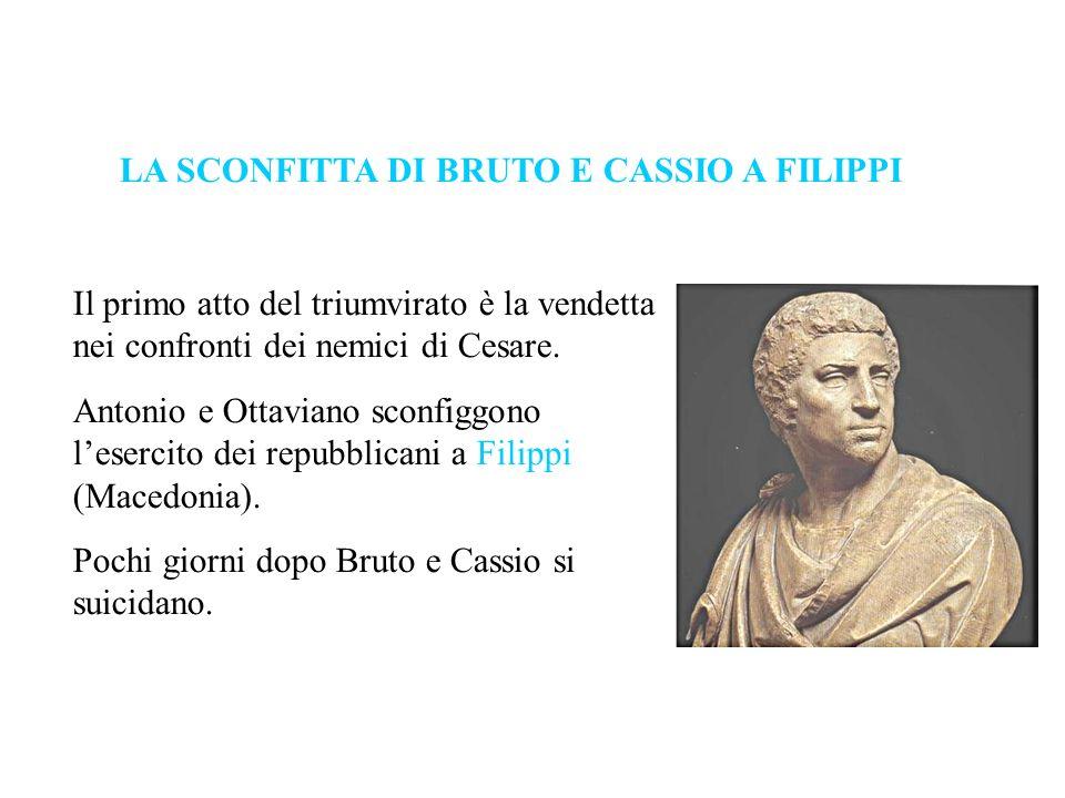 LA SCONFITTA DI BRUTO E CASSIO A FILIPPI