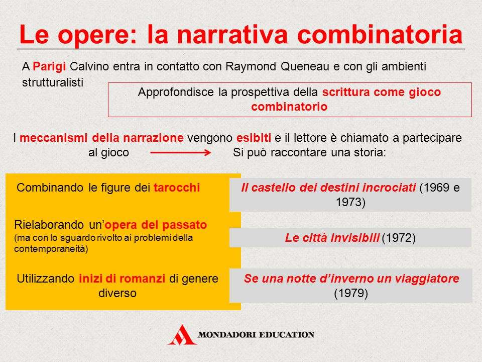 Le opere: la narrativa combinatoria