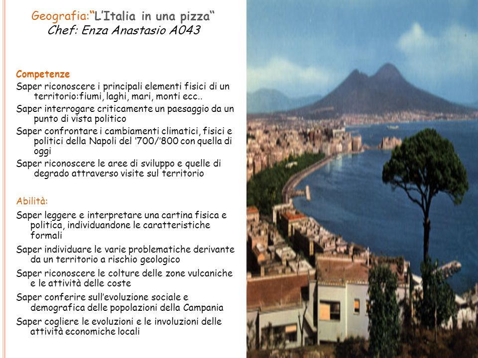 Geografia: L'Italia in una pizza