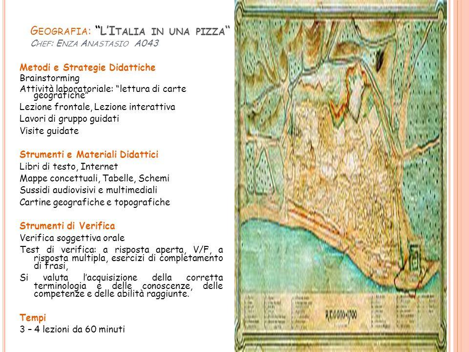 Geografia: L'Italia in una pizza Chef: Enza Anastasio A043