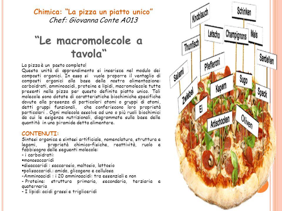 Chimica: La pizza un piatto unico
