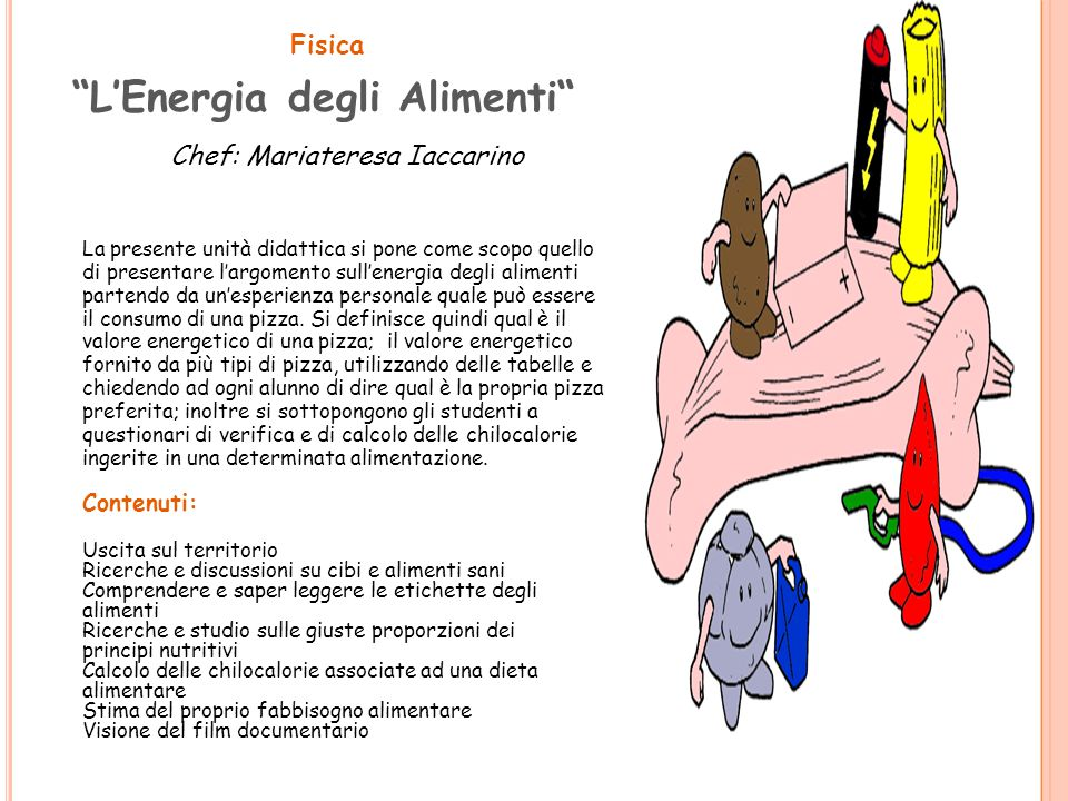 L'Energia degli Alimenti