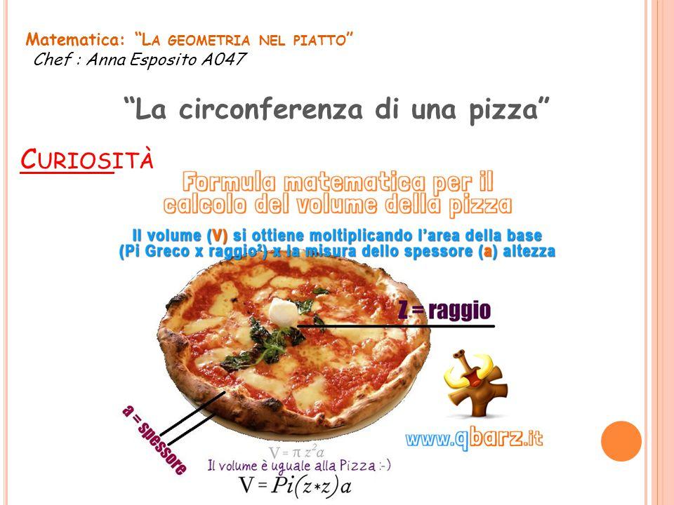 La circonferenza di una pizza