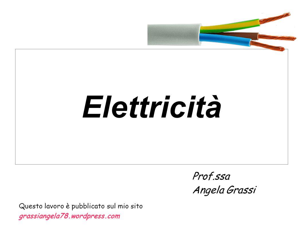 Elettricità Prof.ssa Angela Grassi