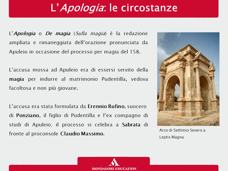 L'Apologia: le circostanze