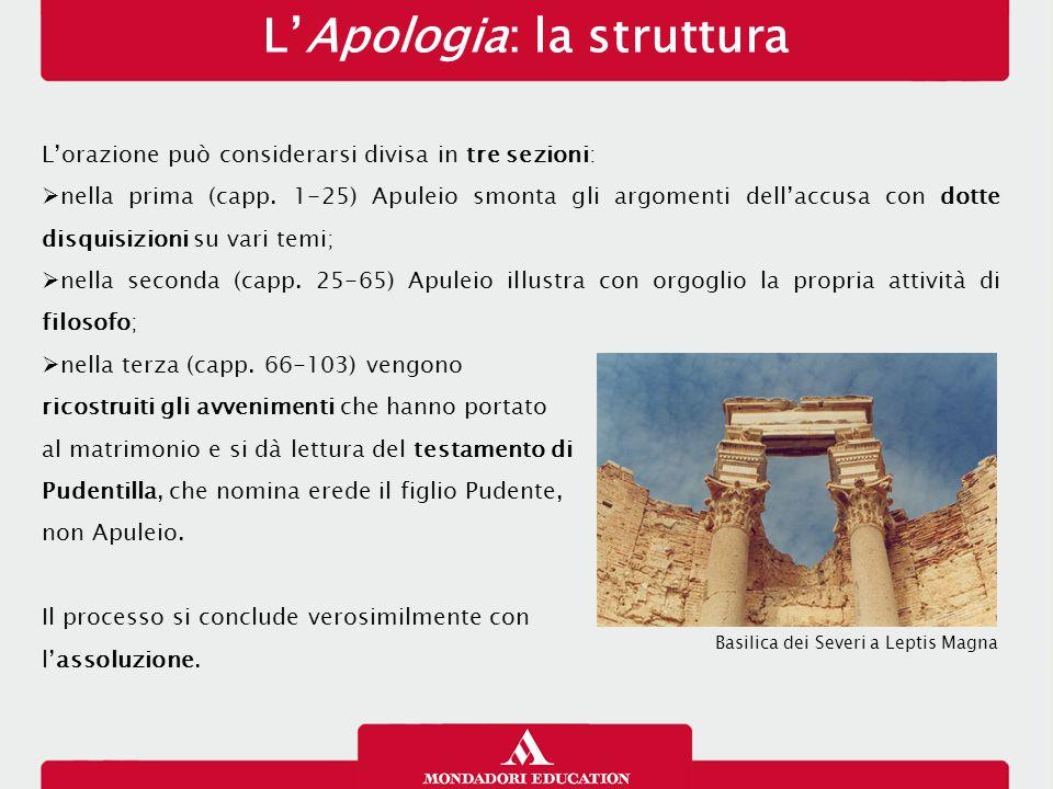 L'Apologia: la struttura