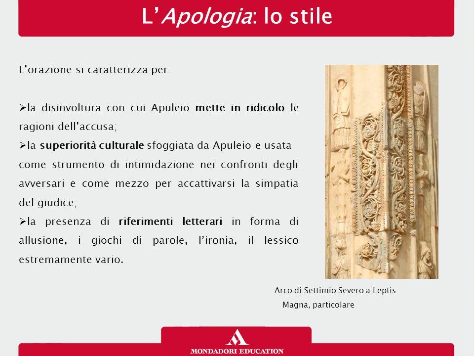 L'Apologia: lo stile L'orazione si caratterizza per: