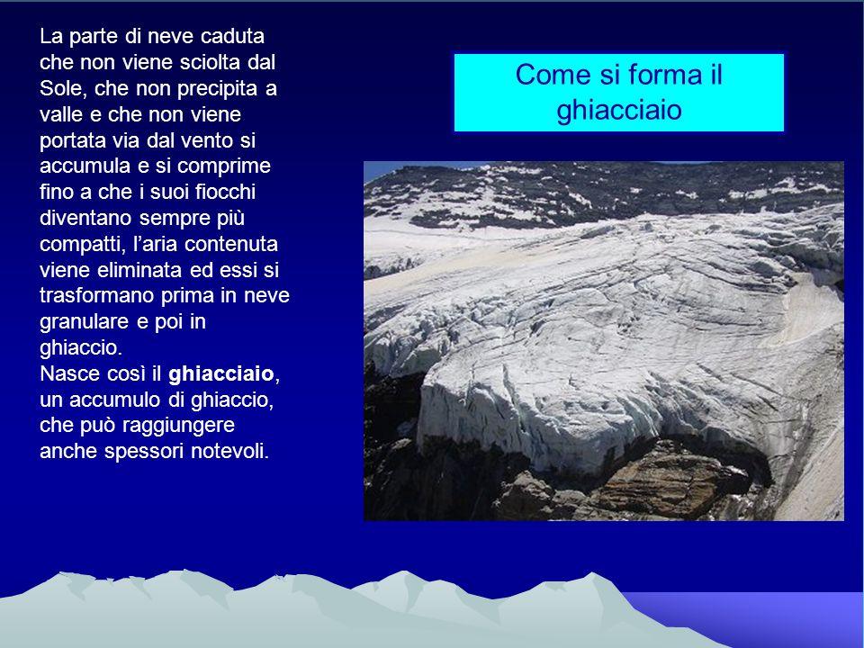 Come si forma il ghiacciaio
