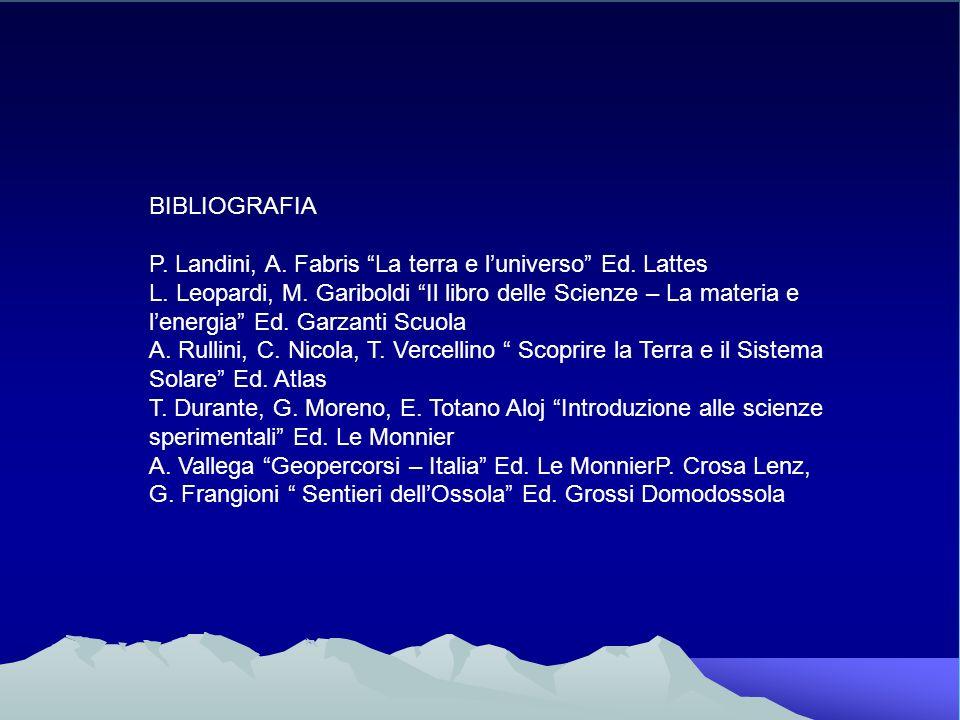 BIBLIOGRAFIAP. Landini, A. Fabris La terra e l'universo Ed. Lattes.