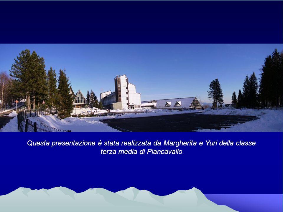 Questa presentazione è stata realizzata da Margherita e Yuri della classe terza media di Piancavallo