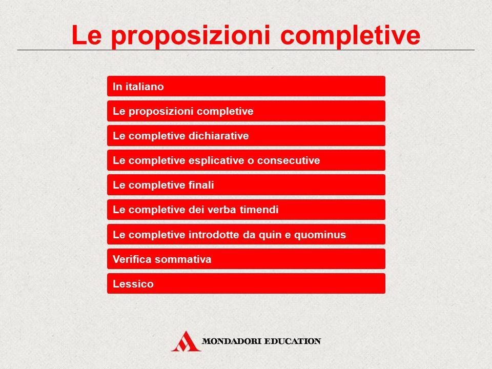 Le proposizioni completive