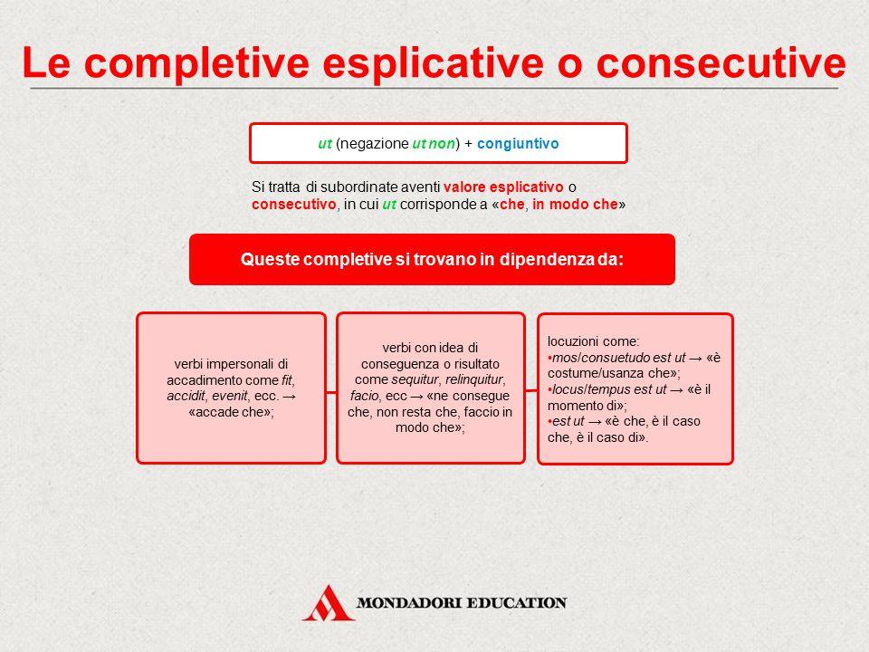 Le completive esplicative o consecutive