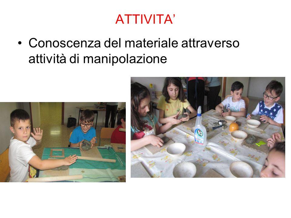 ATTIVITA' Conoscenza del materiale attraverso attività di manipolazione