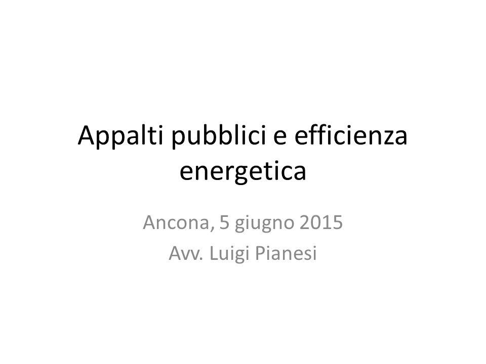 Appalti pubblici e efficienza energetica