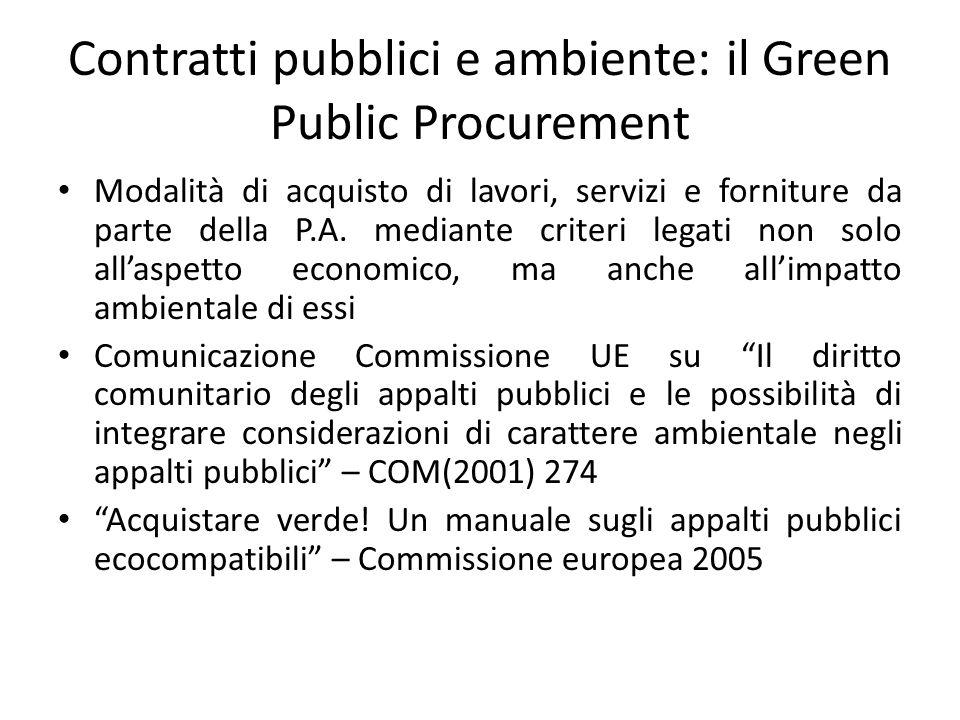 Contratti pubblici e ambiente: il Green Public Procurement