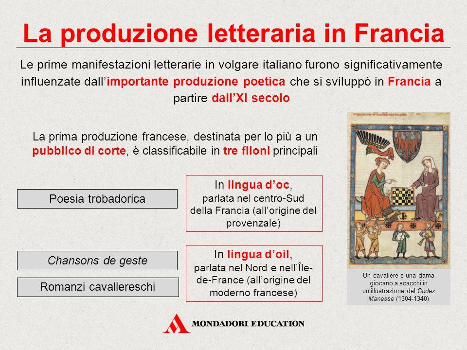 La produzione letteraria in Francia