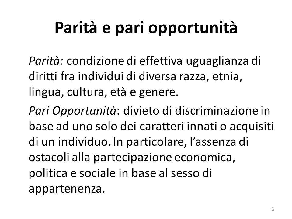 Parità e pari opportunità