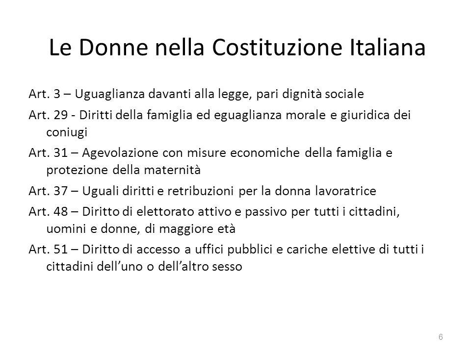 Le Donne nella Costituzione Italiana