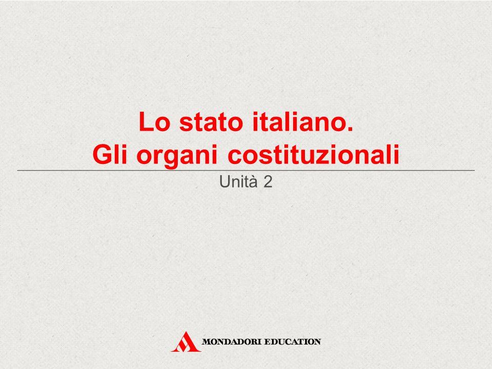 Gli organi costituzionali