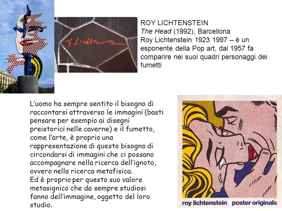 ROY LICHTENSTEIN The Head (1992), Barcellona.