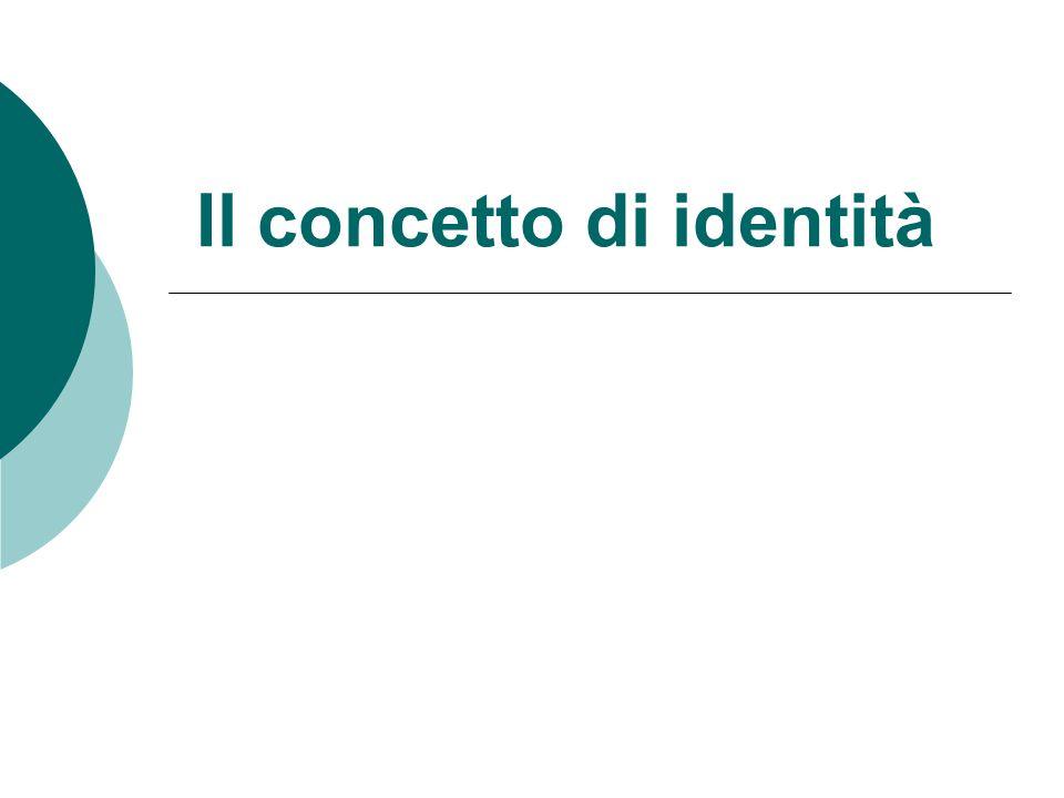 Il concetto di identità