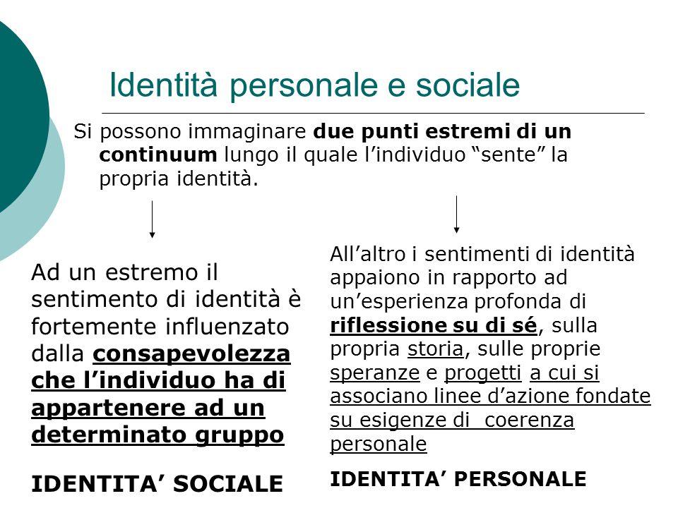 Identità personale e sociale