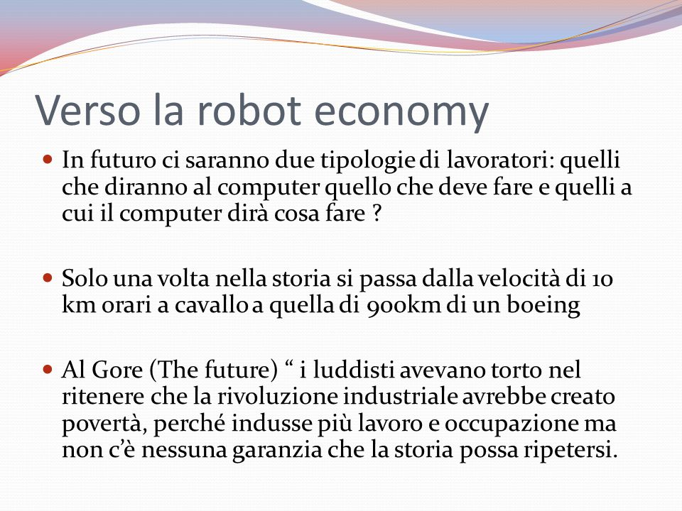 Verso la robot economy