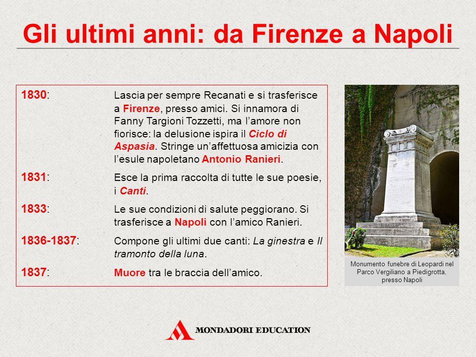 Gli ultimi anni: da Firenze a Napoli