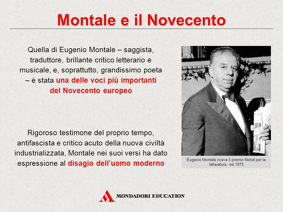 Eugenio Montale riceve il premio Nobel per la letteratura, nel 1975