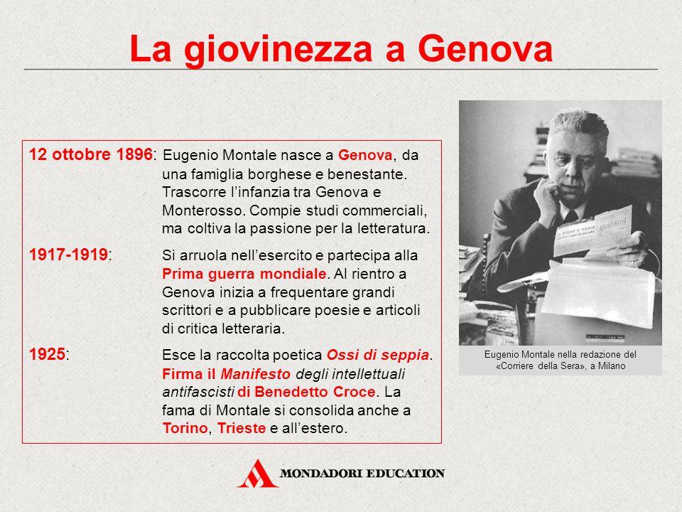 Eugenio Montale nella redazione del «Corriere della Sera», a Milano