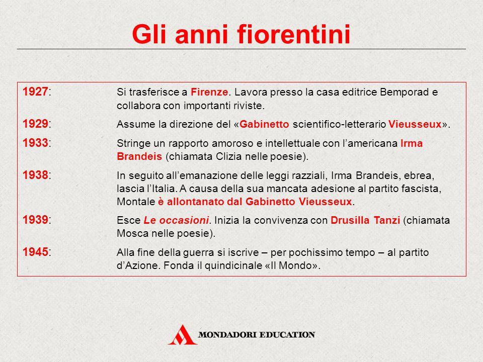 Gli anni fiorentini 1927: Si trasferisce a Firenze. Lavora presso la casa editrice Bemporad e collabora con importanti riviste.